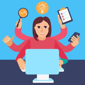 Travailleur autonome, entrepreneur, cher d'entreprise